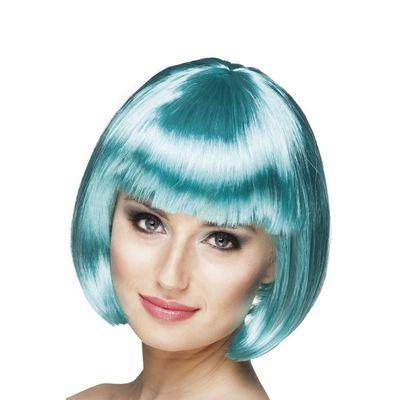 Foto van Pruik Bobline turquoise kort model