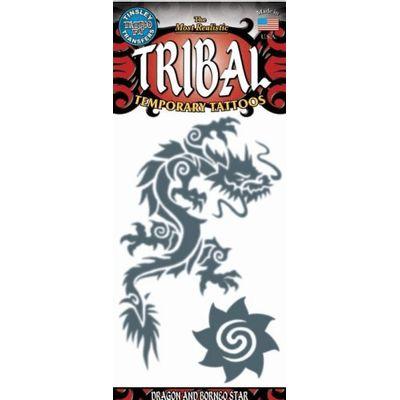 Foto van Tribal neptattoo Draak