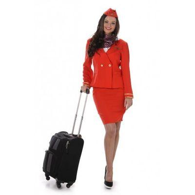 Foto van Stewardess kostuum - Rood