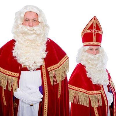 Sinterklaas baard P krulsnor kanekalon