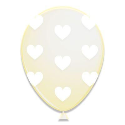 Ballonnen Witte Hartjes 6st