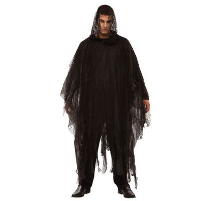 Halloween poncho zwart