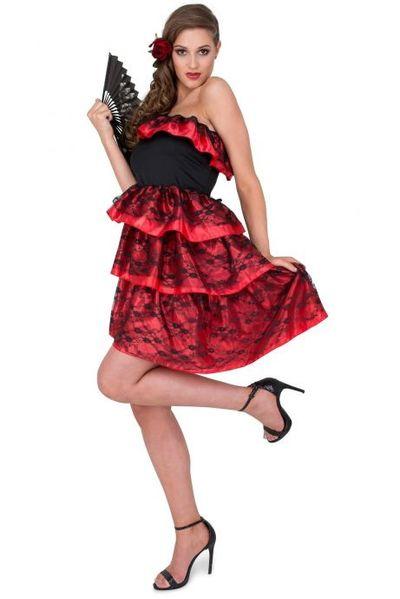 Spaanse jurk met kant