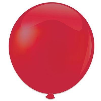 Topballon kristal rood (91cm) 6st