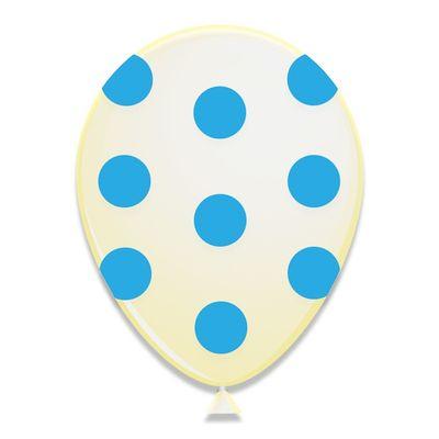 Ballonnen Blauwe Stippen 6st