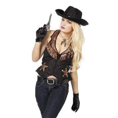 Foto van Cowboy gilet dames Plus size