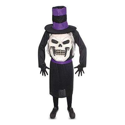 Foto van Doodskop met hoed kostuum