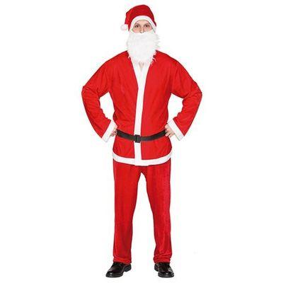 Kerstman pak velvet