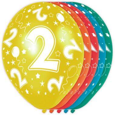 Foto van Leeftijd ballonnen 2 jaar 5 stuks