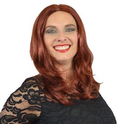 Yvette pruik roestrood