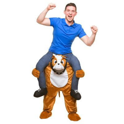 Carry me kostuum bulldog
