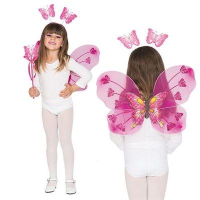 Foto van Vlinder set roze kind