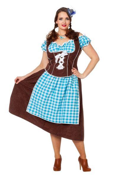 Lange dirndl jurk (grote maten) Julia