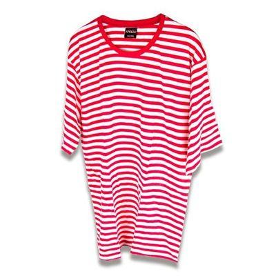 Gestreept t-shirt rood/wit dames