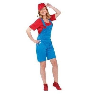 Foto van Mario kostuum vrouw
