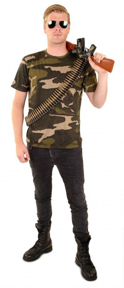 T-shirt camouflage print unisex
