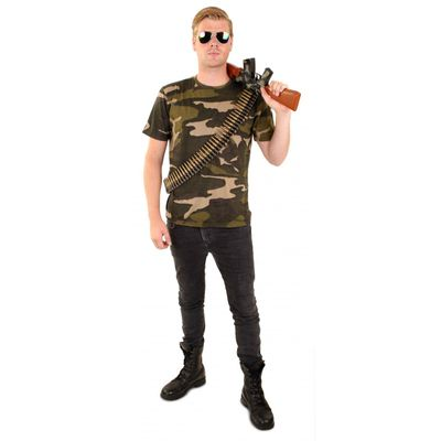 Foto van T-shirt camouflage print unisex