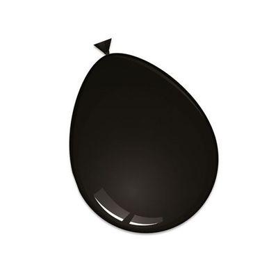 Foto van Ballonnen deco zwart (30cm) 50st