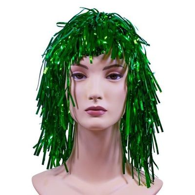 Lametta pruik deluxe groen