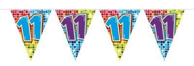 Mini Vlaggenlijn Bday Blocks 11 jaar