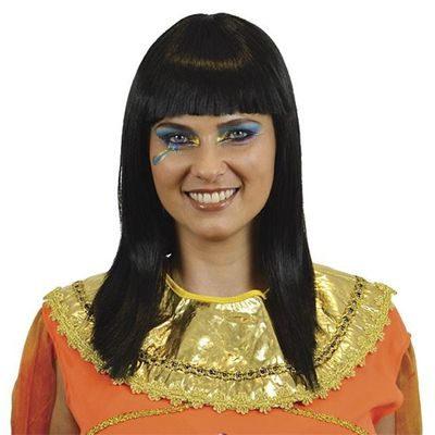 Foto van Cleopatra pruik zwart