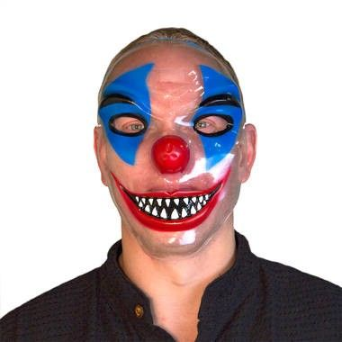 Foto van Transparant clown masker