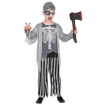 Zombie piraten kostuum kind