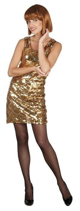 Afbeelding van Pailletten jurkje goud