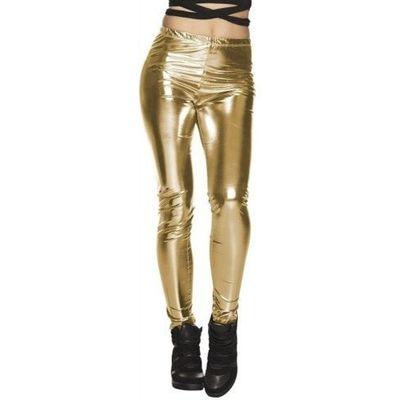 Foto van Metallic legging goud