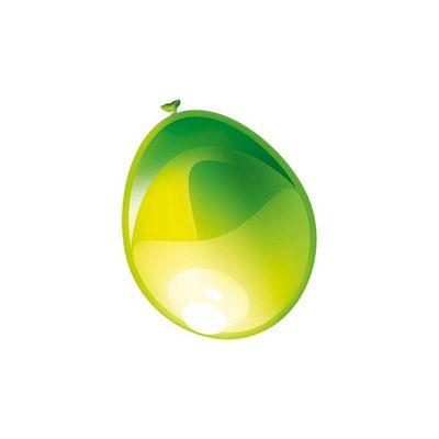 Ballonnen Metallic Appel groen 10st