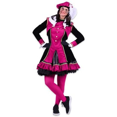 Dames pietenjurk Graciosa zwart/roze