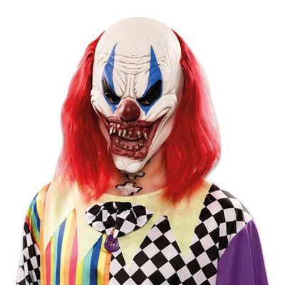 Foto van Horror Clown Masker - lang haar