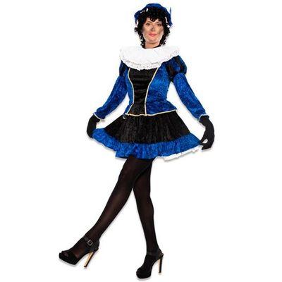 Pietjurkje met petticoat blauw