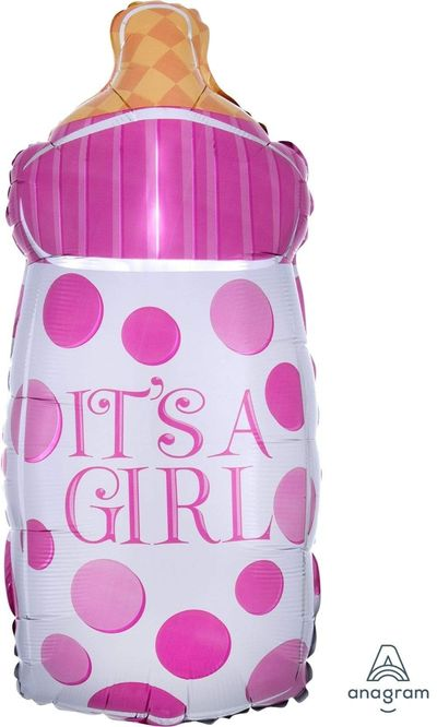 Folie ballon Fles It's a girl