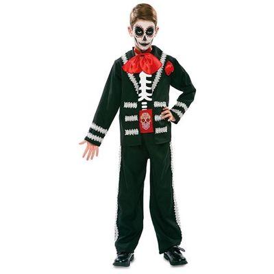 Day of the Dead Kostuum zwart - kind