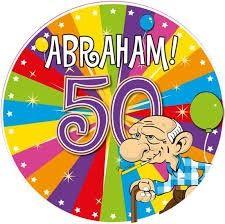 Button 50 jaar Abraham LED