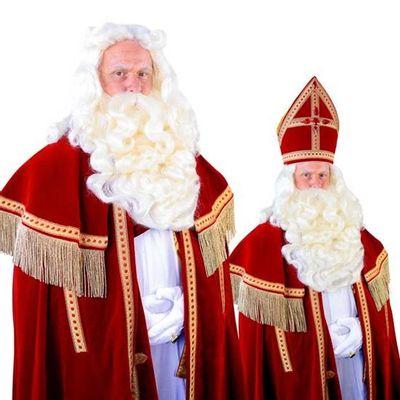 Foto van Sinterklaas baard Madrid kanekalon losse snor 34.114