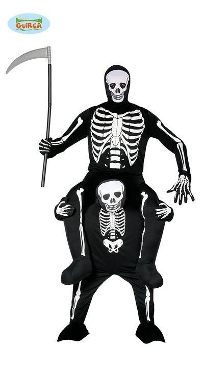 Carry me skeletten kostuum 2 in 1