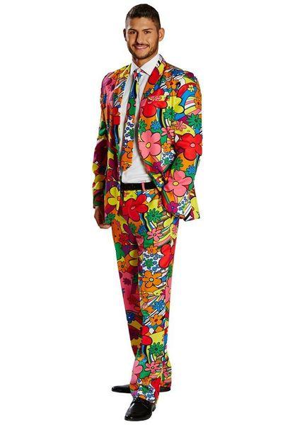 Kostuum Flower Power 3-delig heren