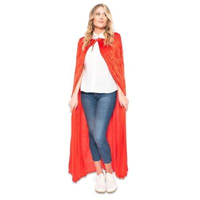 Cape velours deluxe rood