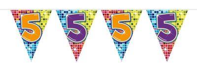 Mini Vlaggenlijn Bday Blocks 5 jaar