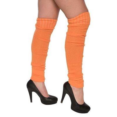Beenwarmers over-knee oranje