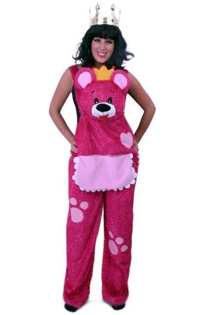 Knuffelbroek teddybeer roze dames