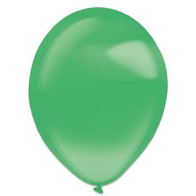 Ballonnen festive green crystal (35cm) 50st