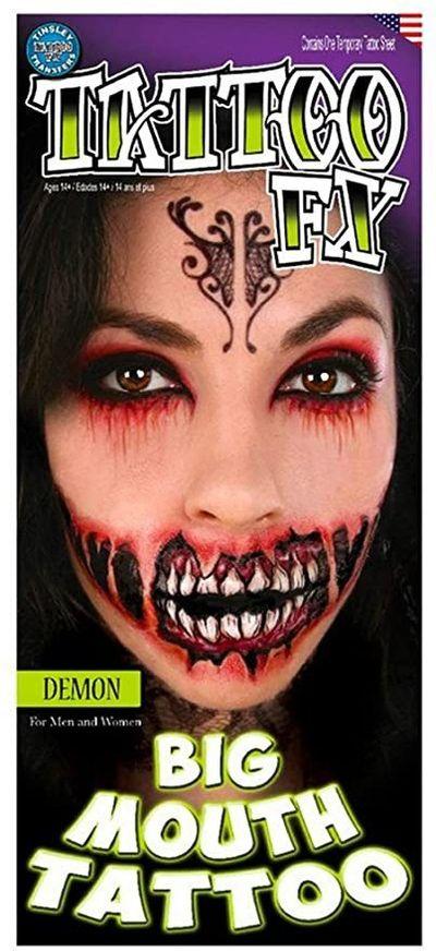 Demon mond neptattoo