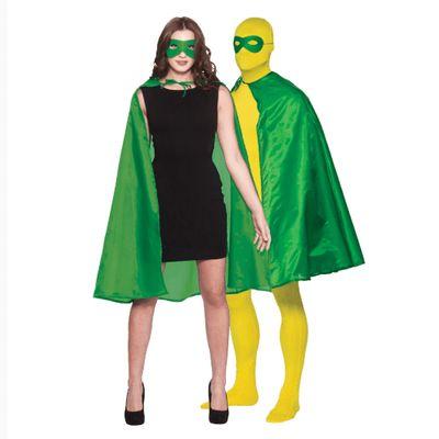 Foto van Groene superhelden cape met masker