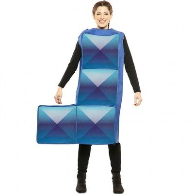 Foto van Tetris kostuum blauw
