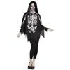 Afbeelding van Halloween poncho skelet