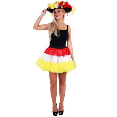 Foto van Petticoat rood/wit/geel 3-laags dames one size