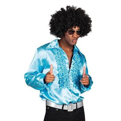 Disco blouse lichtblauw